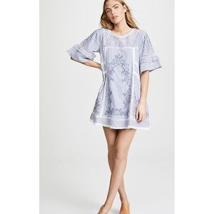{free people} sunny day embroidered shift dress